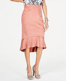 Thalia Sodi Flounce-Hem Pencil Skirt, Created for Macy's