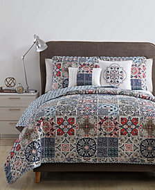 VCNY Home Azure Reversible 4-Pc. Twin/Twin XL Quilt Set