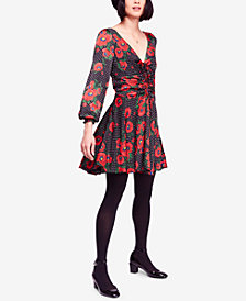 Free People Morning Light Printed Mini Dress