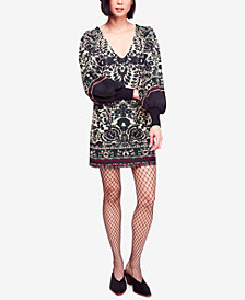Free People Musics & Lyrics Printed Mini Dress