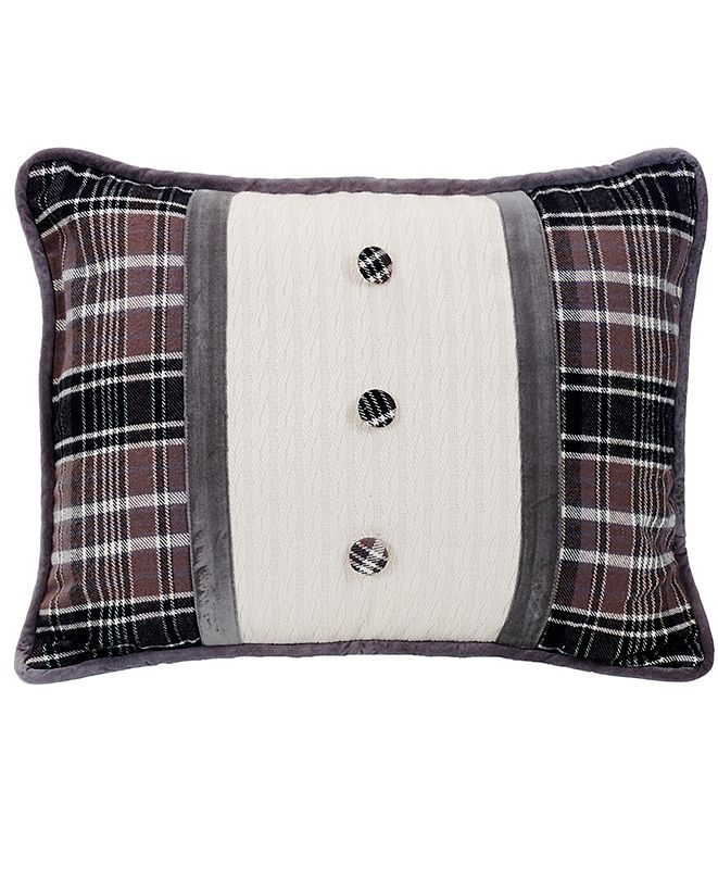 """HiEnd Accents Oblong 16x21"""" Pillow with Covered Button"""