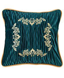 Velvet Embroidery 18x18 Pillow