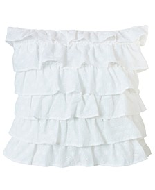 "Tiered Ruffled Eyelet 18""x18"" Pillow"