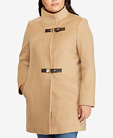 Lauren Ralph Lauren Plus Size Buckled-Front Coat