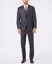 Lauren Ralph Lauren Men's Classic/Regular Fit UltraFlex Gray Solid Vested Wool Suit
