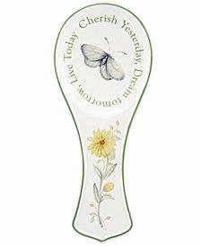 Lenox Dinnerware, Butterfly Meadow Sentiment Spoon Rest