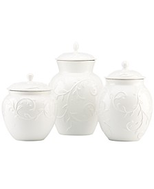 Canisters, Set of 3 Opal Innocence Carved