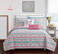 Millie 5 Piece Full Quilt Set