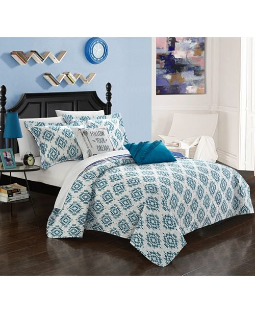 Chic Home Jaden 5 Piece Full Quilt Set