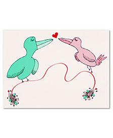 Carla Martell 'Love Birds' Canvas Art Print Collection