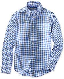 Polo Ralph Lauren Big Boys Cotton Poplin Shirt