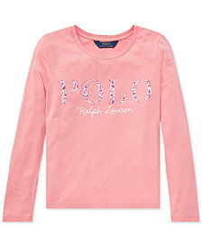 Polo Ralph Lauren Big Girls Cotton Graphic Long-Sleeve T-Shirt