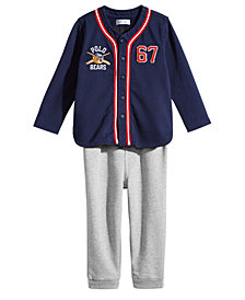 Ralph Lauren Baby Boys Polo Bear Baseball Shirt & Pants Set