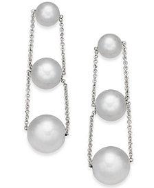 Alfani Silver-Tone Imitation Pearl Linear Drop Earrings, Created for Macy's