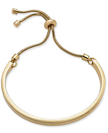 Alfani Gold-Tone Curved Bar Slider Bracelet, Created for Macy's