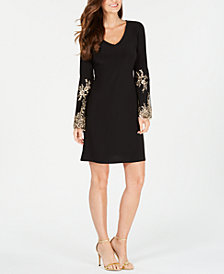 MSK Petite Embroidered Shift Dress