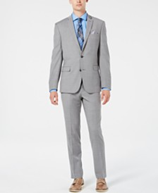 Bar III Men's Slim-Fit Stretch Flannel Suit Separates, Created for Macy's