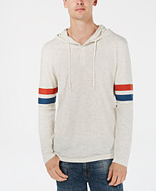 American Rag Men's Varsity Henley Hooded Shirt, Created for Macy's