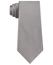 DKNY Men's Geo Building Block Slim Silk Tie