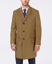 Men's Melton Classic/Regular Fit Batten Overcoat