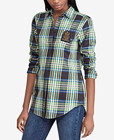 Lauren Ralph Lauren Plaid Silk Shirt