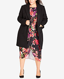 City Chic Trendy Plus Size Sweet Romance Coat