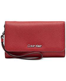 Calvin Klein Leather Wristlet