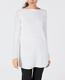 Petite Curved-Hem Tunic Sweater, Created For Macy's