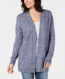 Karen Scott Open-Front Sweater Cardigan, Created for Macy's