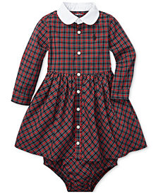 Polo Ralph Lauren Baby Girls Plaid Cotton Shirtdress