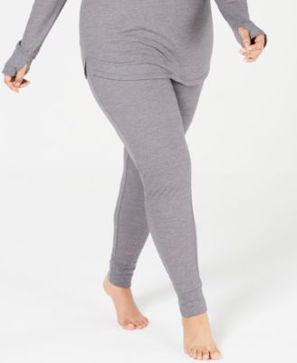 5bfd836a7ba8 Cuddl Duds Plus Size Crew-Neck Waffle Thermal Top & Leggings ...