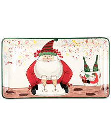 VIETRI Old St. Nick 2018 Limited Edition Rectangular Platter