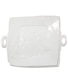 Lastra Winterland Stoneware Santa Square Platter