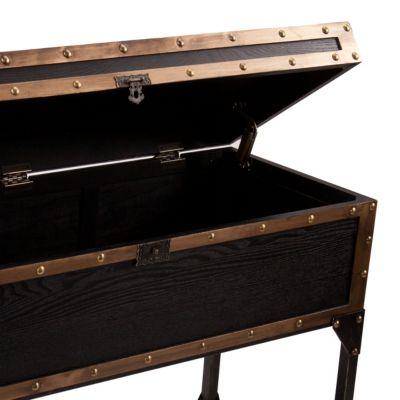 ... Southern Enterprises Drifton Travel Trunk Console Table, Quick Ship ...