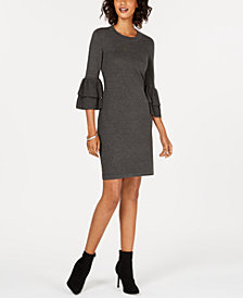 Nine West Bell-Sleeve Sweater Dress