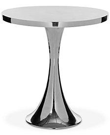 Galium Aluminum Side Table, Quick Ship