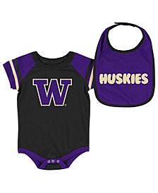 Washington Huskies Onesie & Bib Set, Infants (0-9 Months)