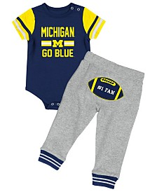 Colosseum Michigan Wolverines Football Creeper Pant Set, Infants (0-9 Months)