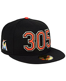 New Era Miami Marlins Area Code 59FIFTY FITTED Cap