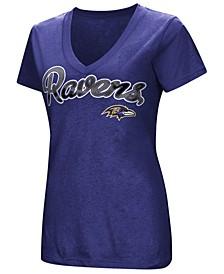 Women's Baltimore Ravens Tailspin Script Foil T-Shirt