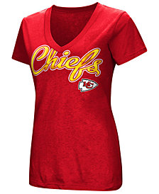 G-III Sports Women's Kansas City Chiefs Tailspin Script Foil T-Shirt