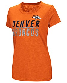 Women's Denver Broncos Dynasty Stacked Glitter T-Shirt