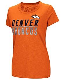 Women's Denver Broncos Dynasty Stacked Glitter T-Shirt