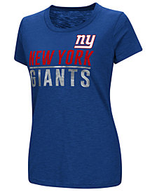 G-III Sports Women's New York Giants Dynasty Stacked Glitter T-Shirt