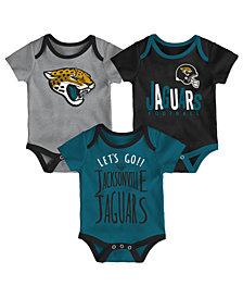 Outerstuff Jacksonville Jaguars 3 Pack Lil Tailgater Creeper Set, Infants (0-9 Months)