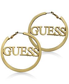 GUESS Logo Hoop Earrings