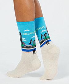 Hot Sox Women's Chicago Crew Socks