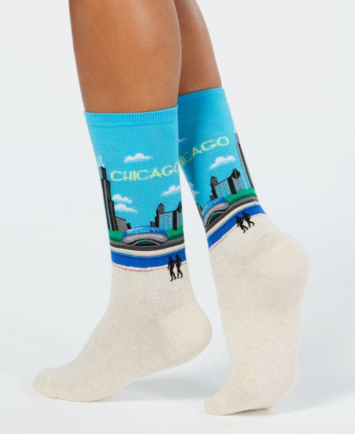 Hot Sox Women's Chicago Fashion Crew Socks & Reviews - Bras, Panties & Lingerie - Women - Macy's