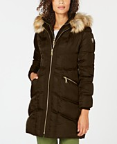 9305d50ab Vince Camuto Faux-Fur-Trim Hooded Puffer Coat