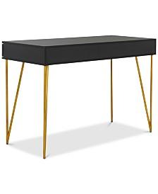 Pine 2-Drawer Desk, Quick Ship